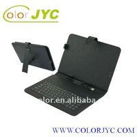 10 inch tablet pc leather case with keyboard