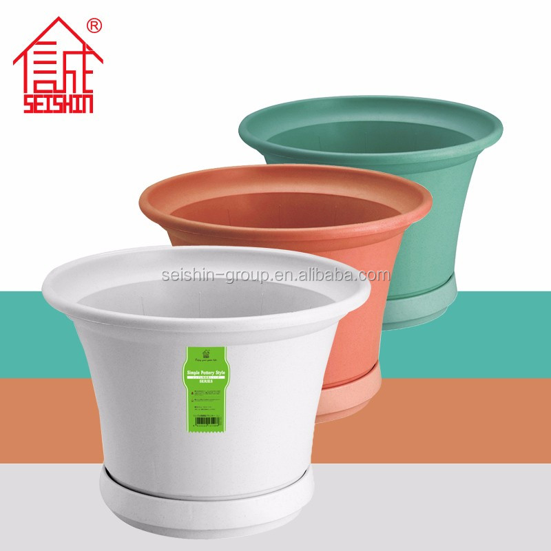 Simple Pottery Style PP Plastic Type Garden Pot Plants