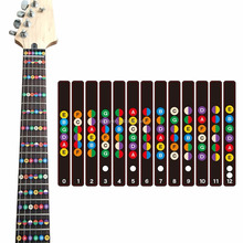 electric guitar fretboard stickers for trainer note