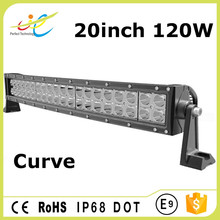 4x4 heavy-duty waterproof led working dual row light bar 20inch 120w curved shape light bar for offroad