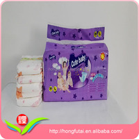 Strong Absorbency Sleepy Disposable Baby Diaper with PE Film and PP Tape