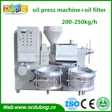 High quality 250kg/h cold pressed edible palm sunflower oil refining machine