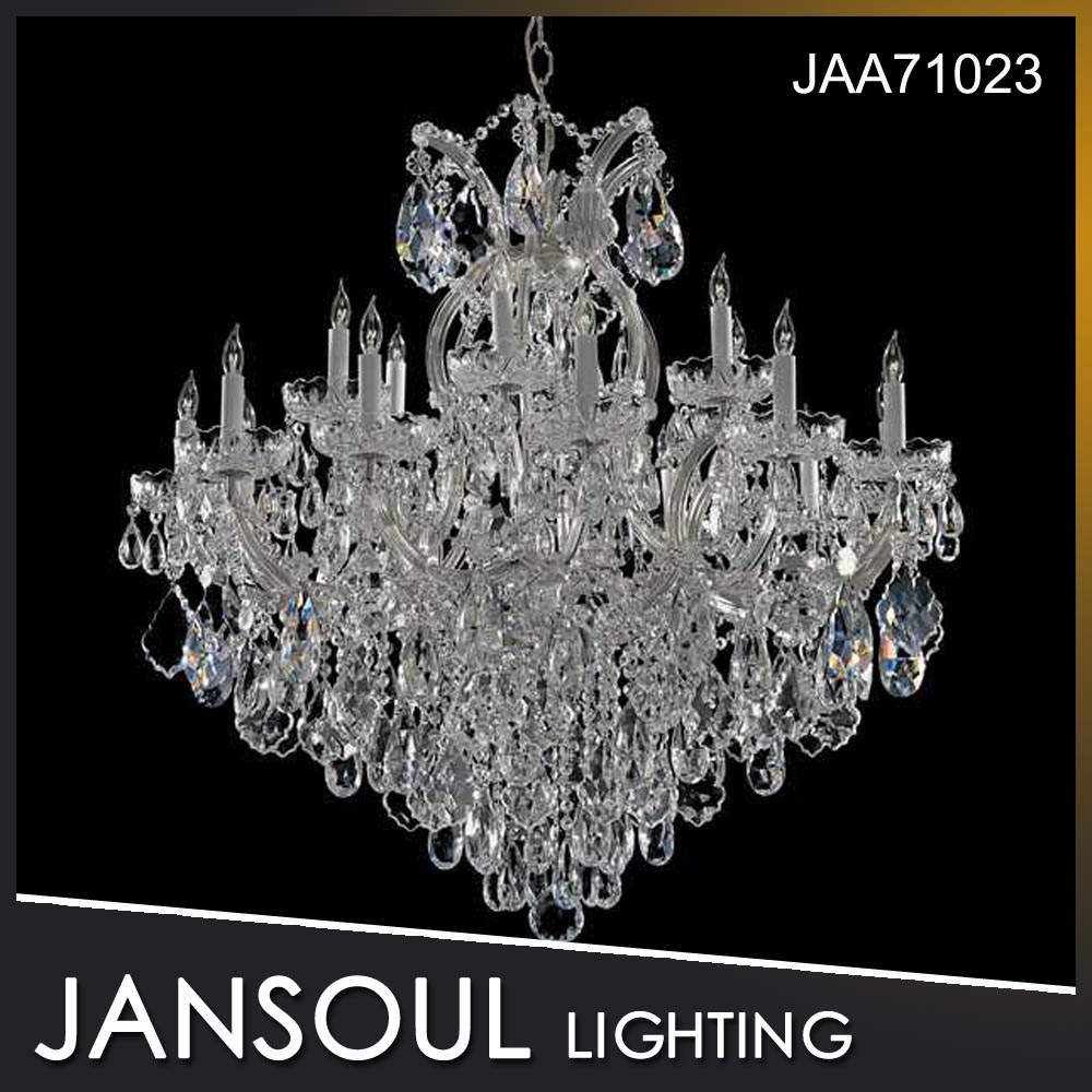High level luxury top quality candle crystal chandelier for house and hotel
