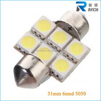 12v 5050 chip car led interior light lamp canbus led car room/dome/roof/festoon/reading lighting lamp 31mm 36mm 39mm 41mm