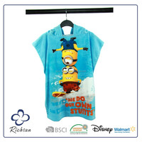 China Supplier Wholesale Hooded Poncho Towel for Kids