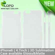 3d sublimation cover for iPhone 6 for sublimation case