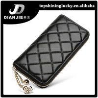 New model lady purses zip around black fashion women wallets with card slots