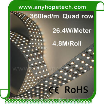 High power High quality 138.24w per roll full color four row 24v led flexible strip light