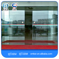 Exterior Commercial Automatic Tempered Glass Sliding Door System