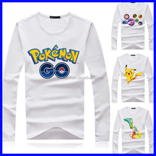 New style wholesale pokemon cheap summer white t-shirt for fans
