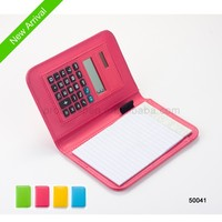2015 New Pocket Notebook Simple Calculator Notebook with pens