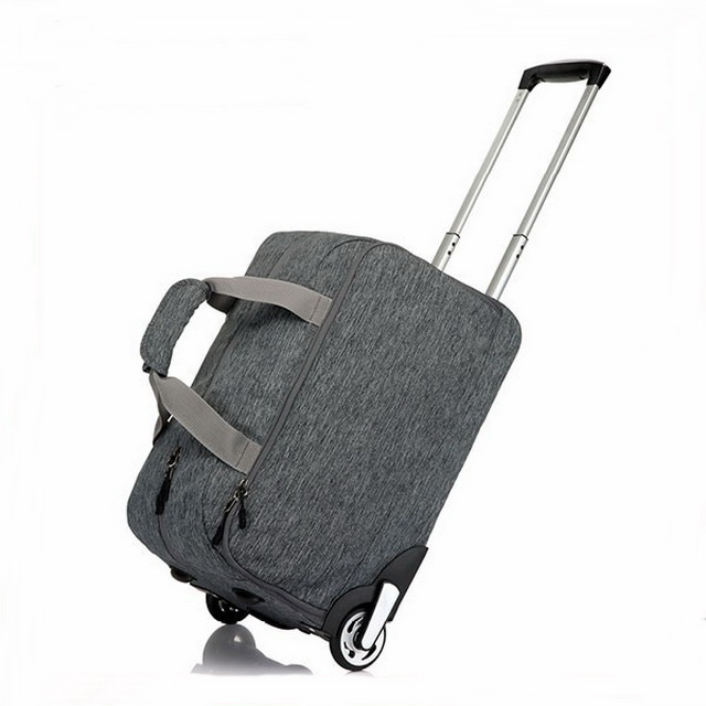 Premium ODM 900D polyester wheeled rolling travel trolley bag luggage garment trolly bags