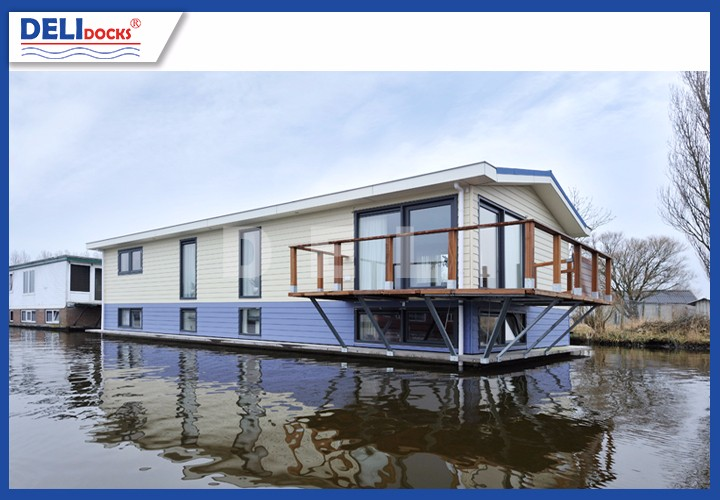 Beach floating house professional plans design aluminum frame