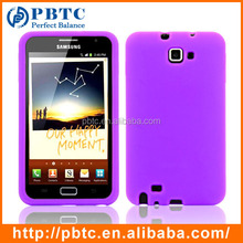 Set Screen Protector And Case For Samsung Galaxy Note I9220 , Purple Phone Case Silicone