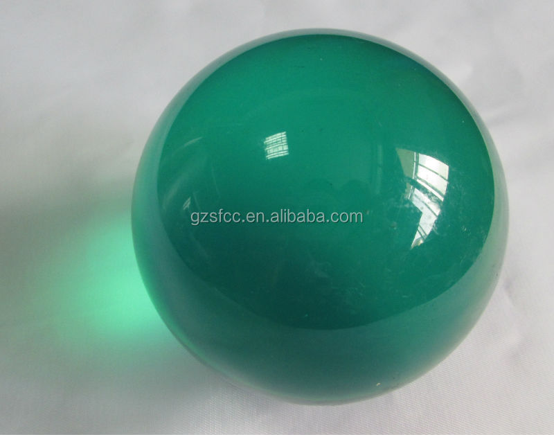 Light green acrylic ball, Lime plexiglass ball, solid PMMA sphere