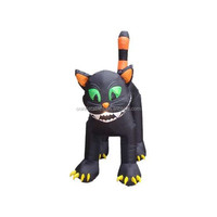 holiday theme inflatable/ halloween inflatable/11 Foot Animated Inflatable Giant Black Cat
