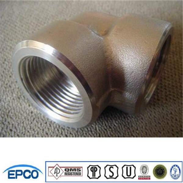 90 Degree elbow NPT Threaded ASTM A105 forged steel elbow