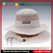 High quality cotton custom bucket hat with string