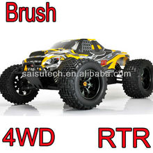 rc toy car 1:10 scale 4wd off road brush electric cheap rc monster trucks