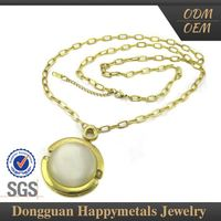 New Coming Stainless Steel 22K Gold Jewellery Dubai Jewelry Rosary big stone Necklace