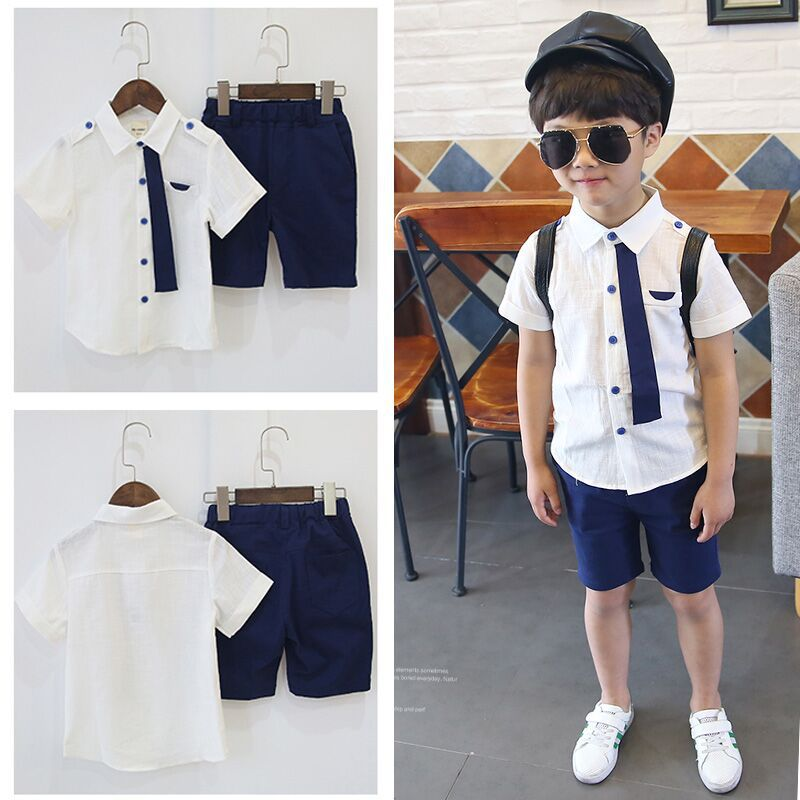 F20221A Korean style child clothes set fashion boys clothing sets high quality for kids