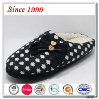 cashmere knitted ladies warm shoes from china shoe factory