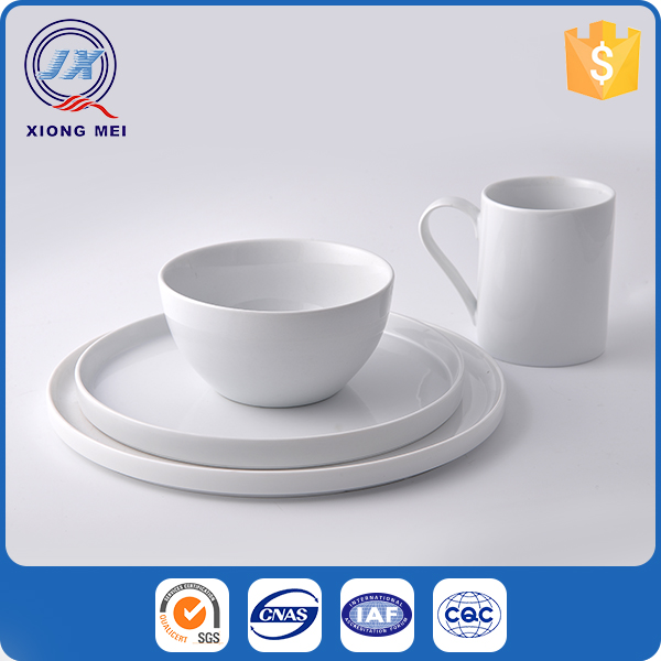 High grade porcelain custom tableware white ceramic dinnerware design
