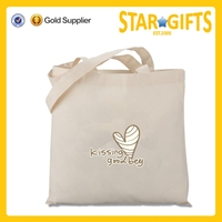 All Purpose Wholesale Eco Friendly 100% Organic Cotton Flat Tote Bag