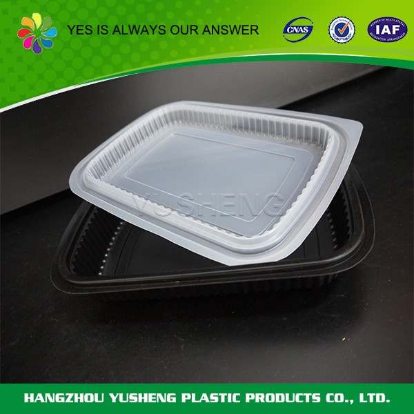 Microwave food container, takeout bento food container