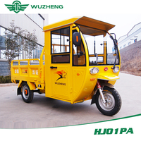 Freight electric tricycle with 48v battery