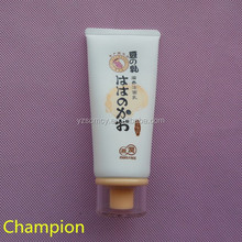 100ml matte white cosmetic tube with acrylic cap
