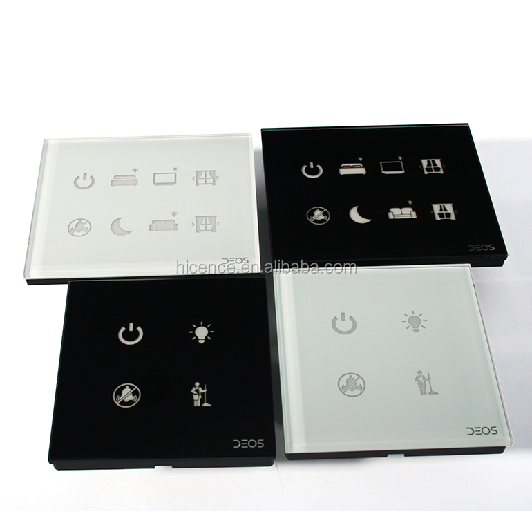 Electronic Hotel Software Room RS485 Wall Touch Display Control Switches Management