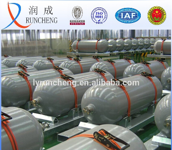 high pressure steel industrial natural gas storage cylinder CNG container