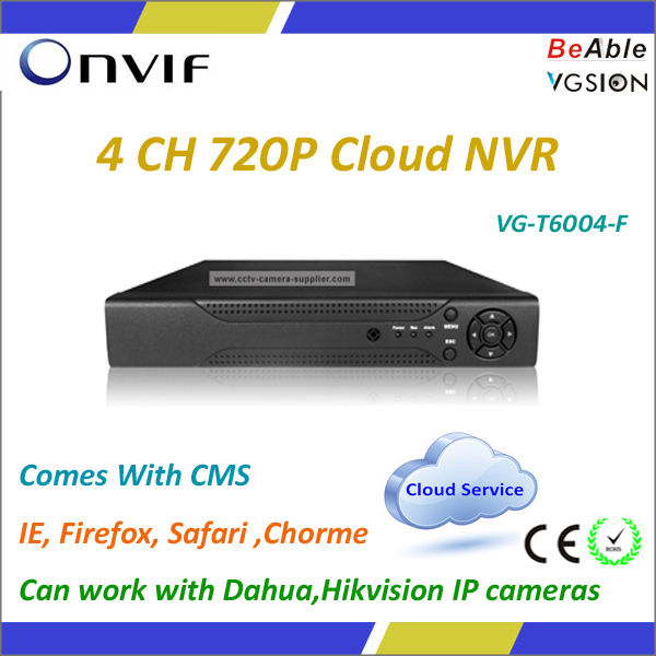4CH Cloud NVR Support Mobile Surveillance Open Source NVR Software
