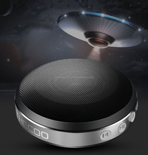 UFO shape Aluminum alloy portable wireless bluetooth speaker with fm radio