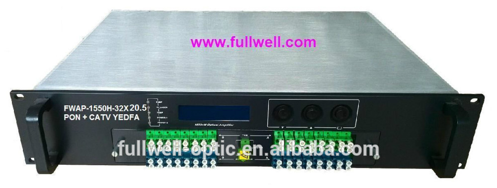 ftth gpon solution optical amplifier equipment catv+32 ports of pon wdm amplifier