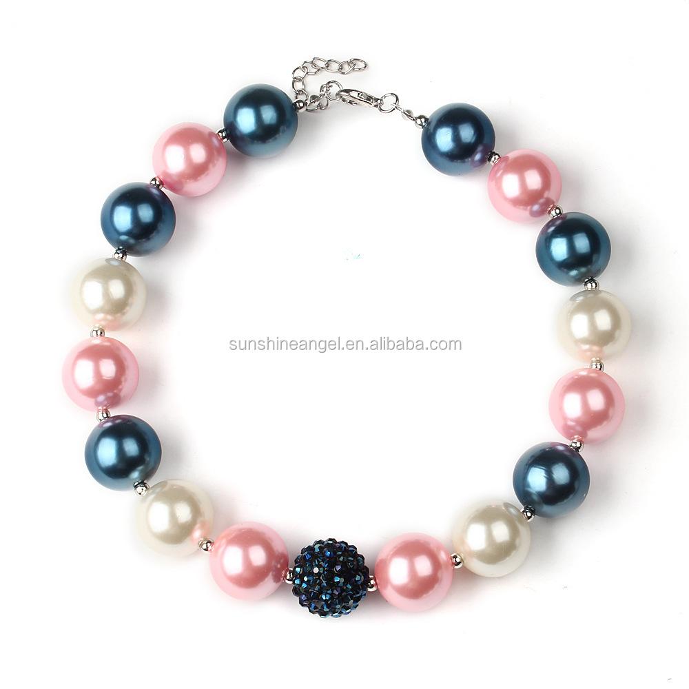 wholesale chunky bubblegum beaded necklace jewellery