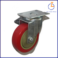 "3"", 4"", 5"" plastic PVC trolley caster wheel hot sale"