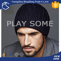 Custom blank mens free knitted beanie hats patterns