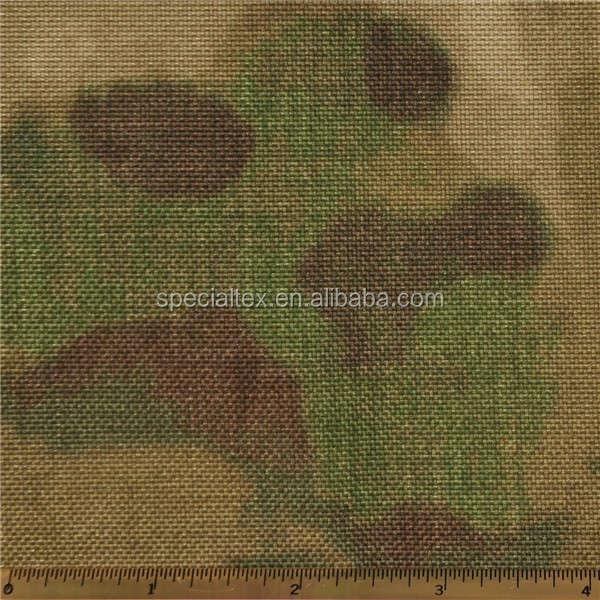 1000D PU Coated Waterproof Nylon 6 A-TACS FG Camo Cordura Fabric