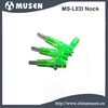 2015 6.2mm Compound / Recurve bow optional colorful pin type lithium battery Lighted LED Arrow Nock