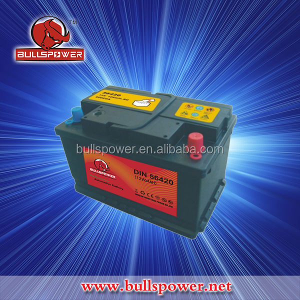 Supre star acid free dry charged auto car battery 12v 64ah