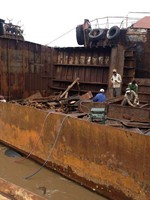 ship cutting scrap
