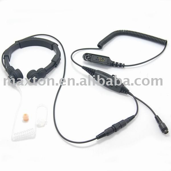 Military walkie talkie throat mic with PPT for two way radio GP340