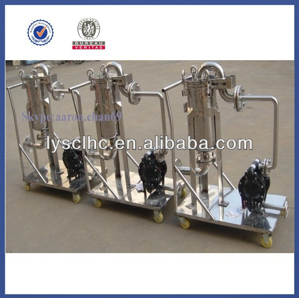 Electronic Industry moveable oily water separator with SS304/316L