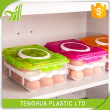Portable Egg Storage Case,Home Egg Organizer Container For 2 Layers