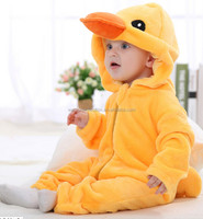 2016 soft&warm baby winter fleece onesie rompers for toddlers in stock