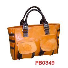 2016 Online Shop New Products Hot Sell China Wholesale yellow Vintage pu Leather Shoulder Bag Women Handbag