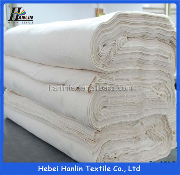 TC 65/35 unbleached calico grey fabric/pocketing greige fabric buyers/importers in China