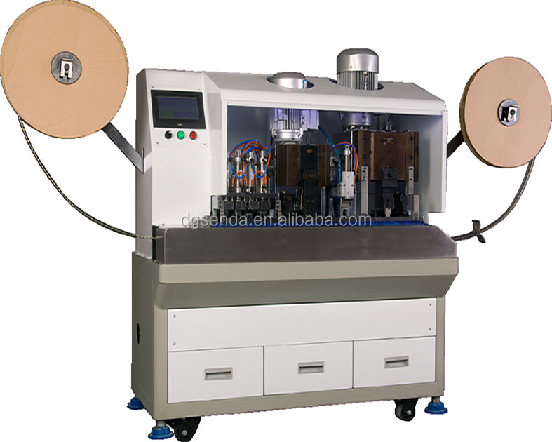 High Speed Full Automatic Copper Wire Stripping American 3 Pin Terminal Crimping Machine (SD-3000AC)